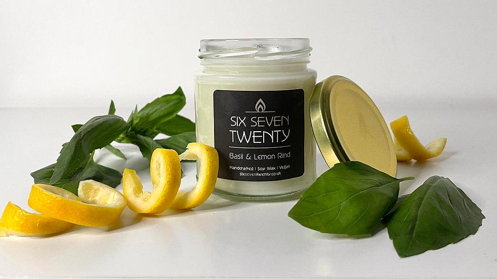 Basil & Lemon Rind 190ml Soy Candle