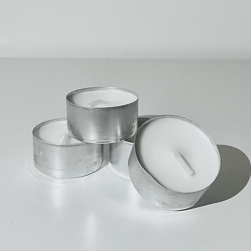 Unscented Tealights for Burners   4 pack