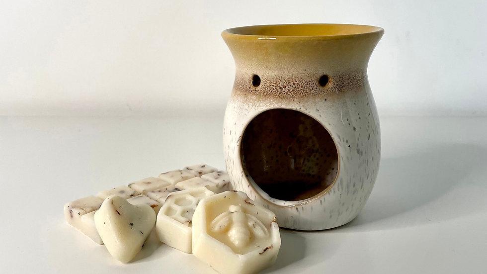 Mustard Mottled Ceramic Burner