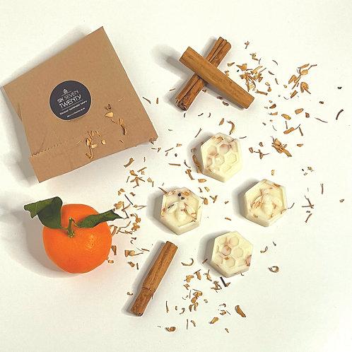 Spiced Mandarin Botanical Wax Melts   Bee design 4 pack
