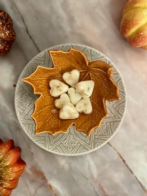 Pumpkin Pie Botanical Wax Melts | Heart design 7 pack