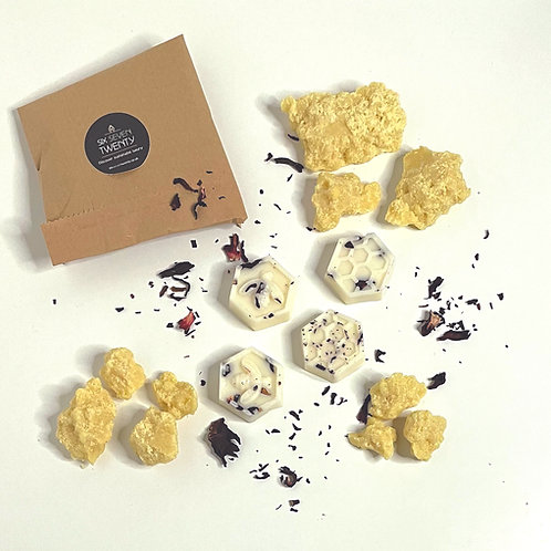 Rich Cocoa Butter Botanical Wax Melts   Bee design 4 pack