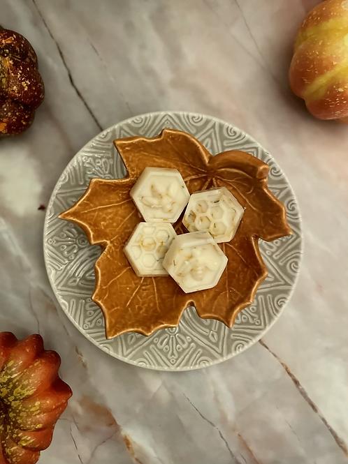 Pumpkin Pie Botanical Wax Melts | Bee design 4 pack