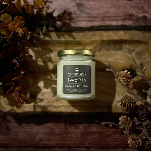Patchouli & Dark Cocoa 190ml Soy Candle