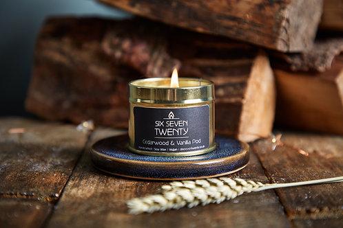Cedarwood & Vanilla Pod 100ml Soy Candle
