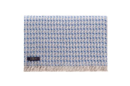 Nida Sea Blue Linen Throw