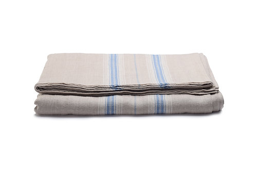 French Country Blue Stripe Tablecloth