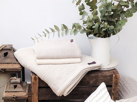 organic cotton linen baby blanket