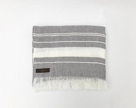 Grey Beach Linen Towel