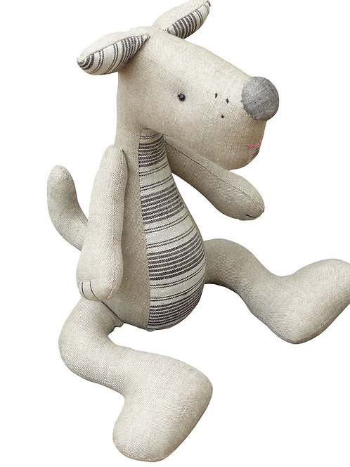 Linen Twin Dog Toy