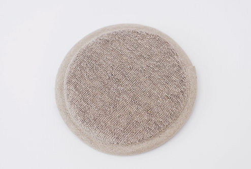 Cotton Linen Terry Bath Shower Pad In Natural