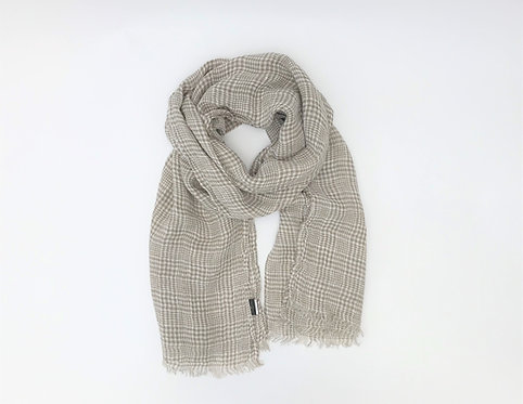Taupe Brown Linen Scarf