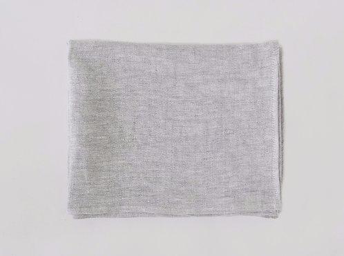 Light Grey Melange Linen Scarf