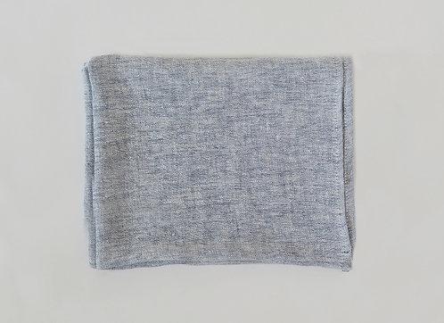 Light Blue Melange Linen Scarf