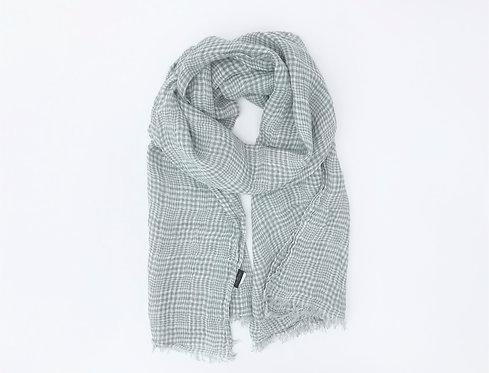 Bluish Grey Linen Scarf