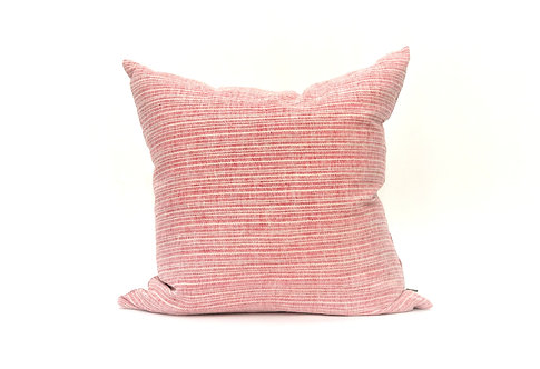 True Linen Coral Red Decorative Pillow