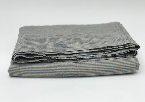 Blue Pin Stripe Linen Tablecloth