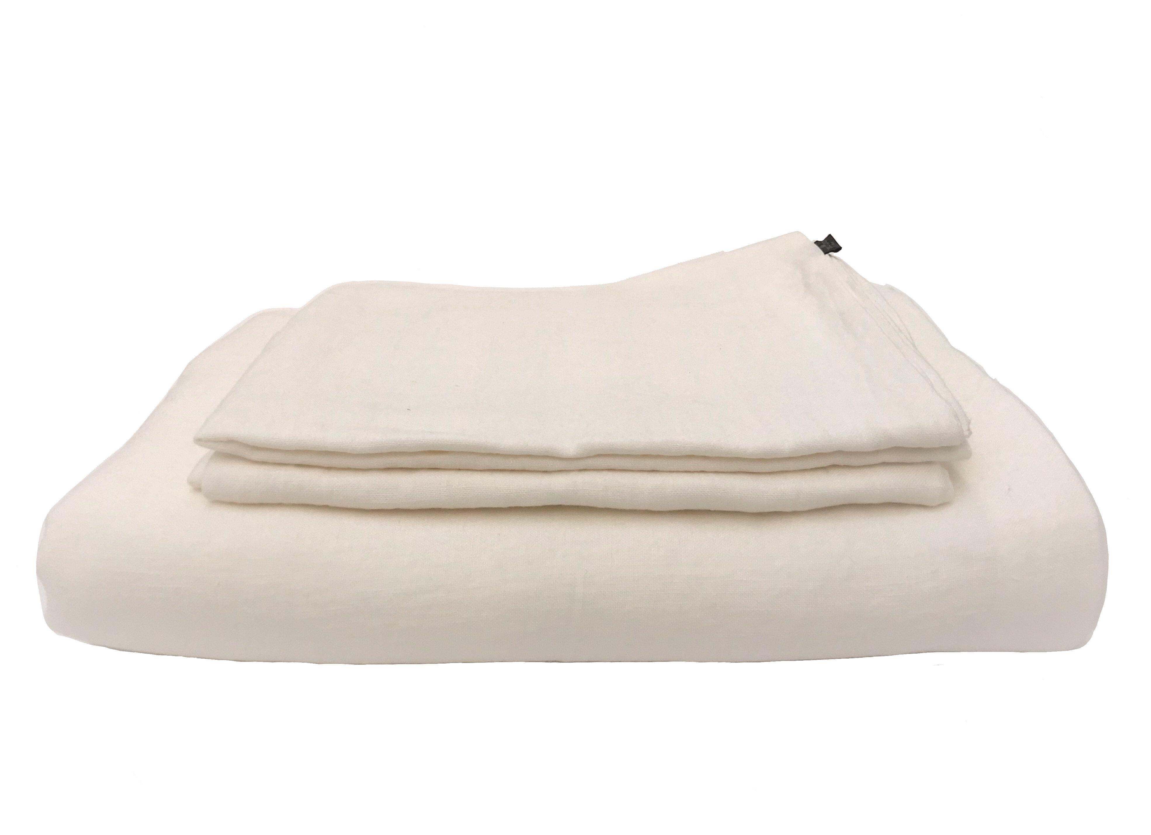 Off White Linen Bedding Set Truelinen