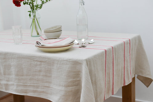 French Country Stripe Tablecloth