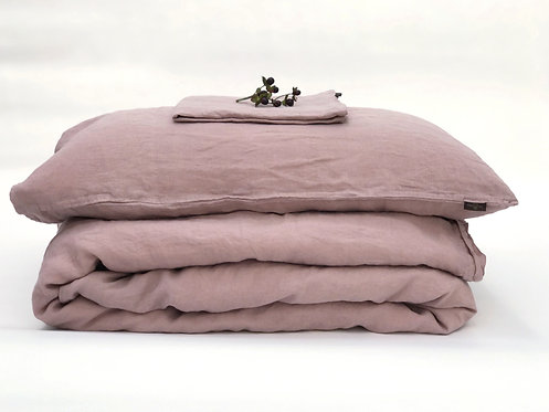Dusty Pink Linen Bedding Set