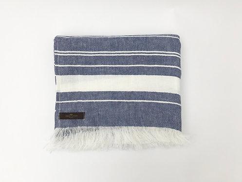Blue Beach Linen Towel