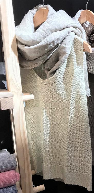 Linen Vest Top in Ivory