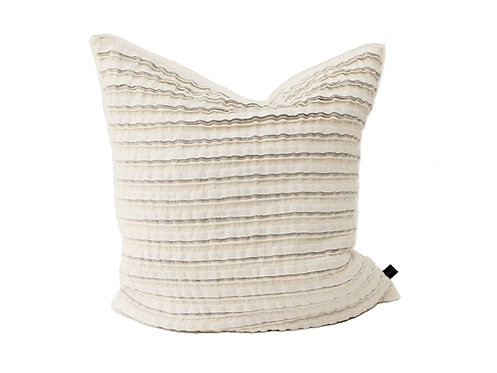 True Linen Frill Cushion Cover in Off-White