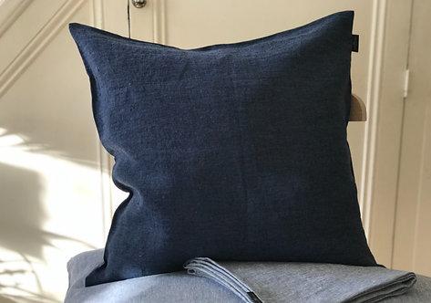 True Linen Blue Jeans Pillow