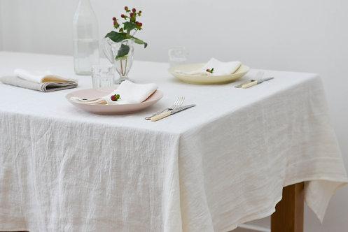 Washed Linen Vanilla Classic Tablecloth