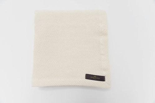 Organic Cotton Linen Ivory Baby Blanket