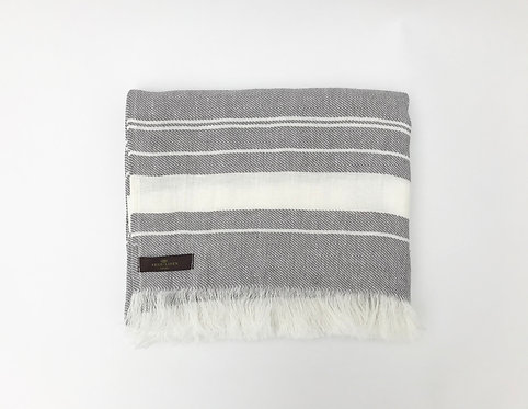 Grey Beach Linen Towel