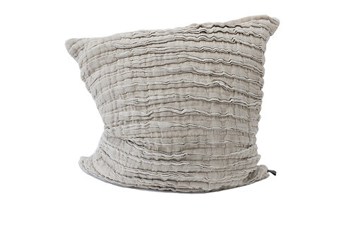 True Linen Frill Cushion Cover in Natural