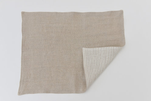 Washed Linen Natural Reversible Placemat