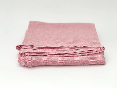 Linen Waffle Blush Pink Towel