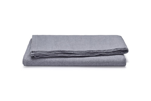Grey Melange Linen Tablecloth