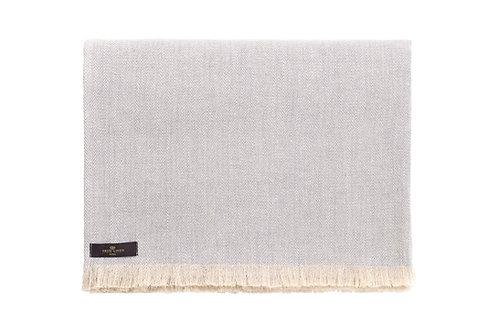 Herringbone Grey Linen Plaid