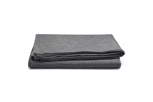 Slate Melange Linen Tablecloth