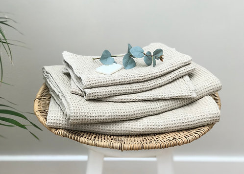 Linen Waffle Towel in Natural