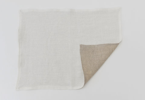 Washed Linen Vanilla Reversible Placemat