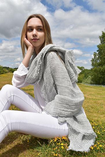 Bluish Grey Linen Scarf.jpg
