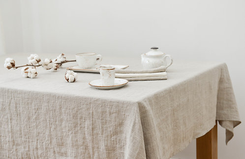Washed Linen Natural Tablecloth Leja