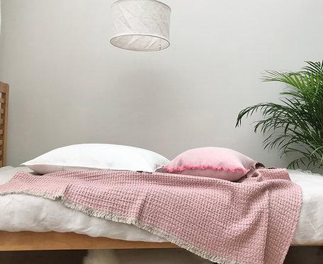 Nida Dusty Pink Linen Throw