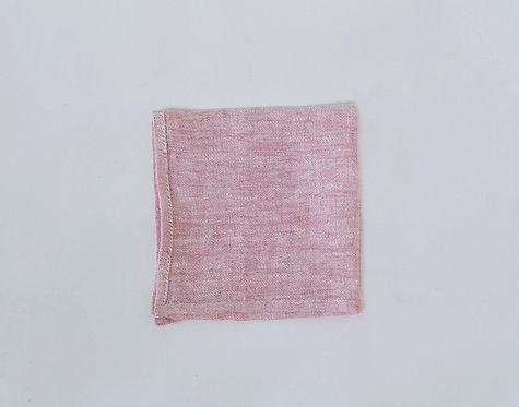 Blush Pink Linen Pocket Square