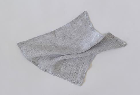 Light Grey Linen Pocket Square