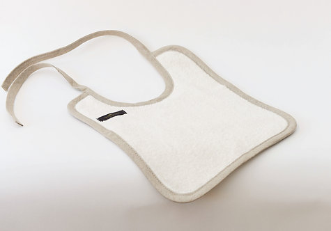 Organic Linen Cotton Reversible Terry Bib