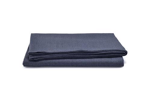 Charcoal Blue Linen Tablecloth