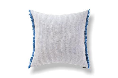 Herringbone Blue Linen Cushion