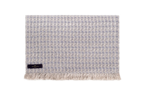 Nida Pebble Grey Linen Throw