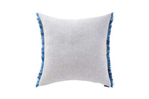 Herringbone Blue Linen Cushion