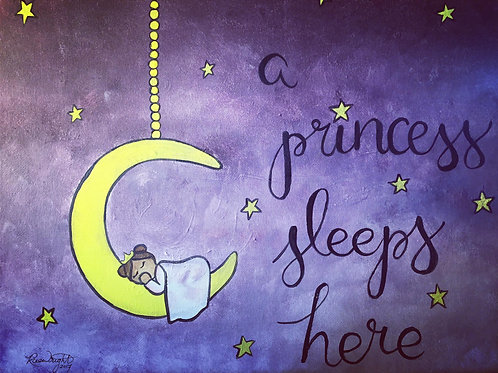 A Princess Sleeps - Print